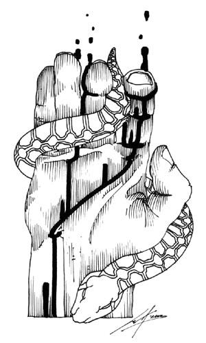 Illustrazione di Luca Vergerio per <i>Le fiamme</i>