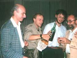 Da sinistra Vittorio Catani, Claudio Asciuti, Domenico Gallo, Rocco Ragone, Montepulciano 1986