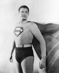 George Reeves nei panni di Superman