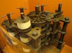 Un particolare della macchina delle differenze progettata da Charles Babbage.