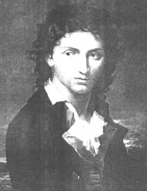 Lord Byron, sommo poeta romantico, prima che partisse per la Guerra d'Indipendenza greca, che gli sarebbe costata la vita, a coronamento di un'esistenza condotta all'insegna dello slancio ideale.