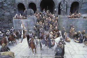 Una delle parti più grandiose del film <i>Le due torri</i>: la battaglia del Fosso di Helm