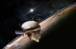 Ecco come potrebbe apparire la New Horizons mentre sorvola Plutone.