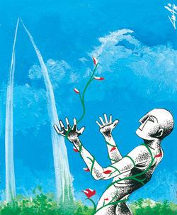 Illustrazione di Luca Vergerio per <i>Verso l'illuminazione</i>