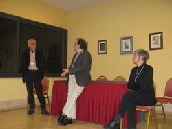 Da sinistra Vittorio Catani, Giuseppe Lippi, Adriana Lorusso