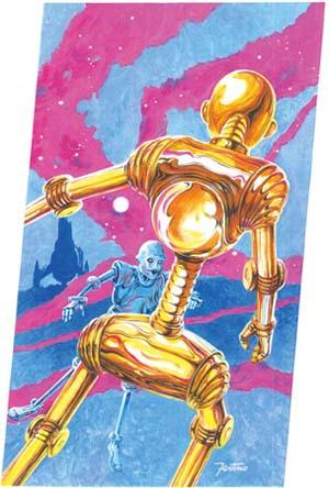 L'immagine creata da Festino per la copertina del numero 41 di <i>Robot</i>