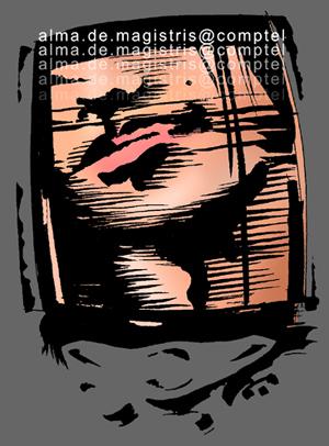 Disegno di Luca Vergerio per <i>Tecnologie di seduzione</i>