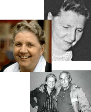 Alcune foto di Leigh Brackett, in basso col marito Edmond Hamilton