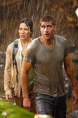 Jack (Matthew Fox) e Kate (Evangeline Lilly) in <i>Lost</i>