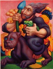 Dipinto di Mac Mazzieri, contenuto in <i>Il Subbio</i> e poi divenuto una<br>delle copertine di <i>Galassia</i>