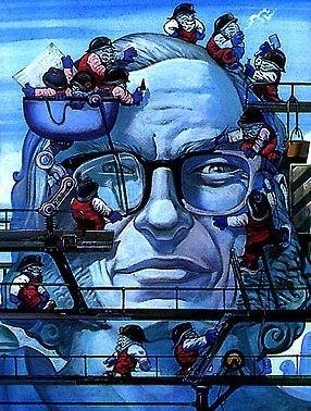 La copertina di un libro francese dedicato ad Asimov