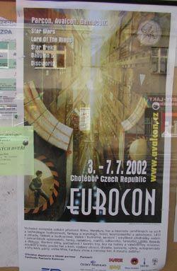 La locandina della convention nella vetrina di una libreria