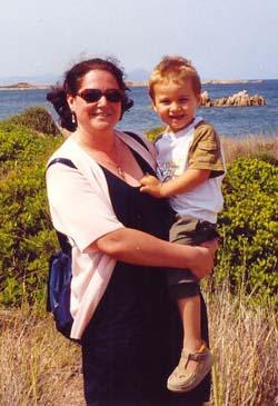 Fabiana Redivo con il figlio