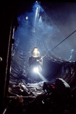 Riprese all'interno dell'astronave