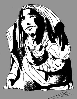 Disegno di Luca Vergerio per <i>Ziqqurat Tango</i>