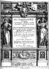 Frontespizio de Il saggiatore (prima edizione, 1623)