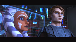 Una scena di The Clone Wars