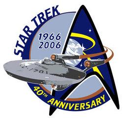 Il logo ufficiale del 40° Anniversario di Star Trek