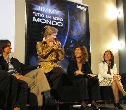 Sul palco del Telefilm Festival, da sinistra Angelica Tintori, Kate Mulgrew, Gabriella Ascari, Flora Staglianò
