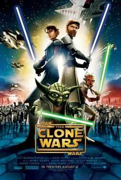 Il poster ufficiale di The Clone Wars