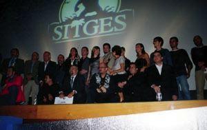 Foto di gruppo alla serata di premiazione che ha concluso il Festival