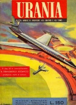 La copertina di Urania Rivista del settembre 1953 dedicata all'aereo atomico