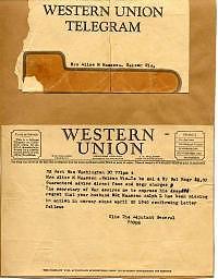 Il primo telegramma della Western Union