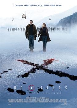Il poster del film X-Files Voglio crederci