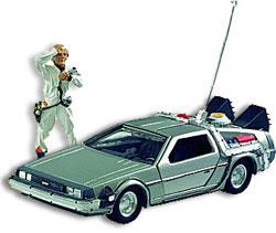 Il modellino della famosa DeLorean