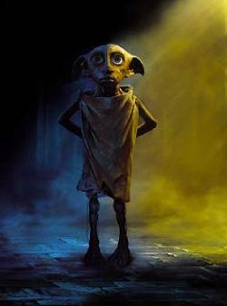 Dobby, elfo digital-domestico che mette in guardia Harry Potter sui pericoli che lo minacciano a Hogwarts