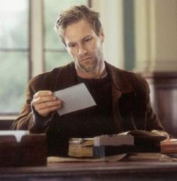Aaron Eckhart in una scena del film <i>Possession - Una storia romantica</i>  (2002)
