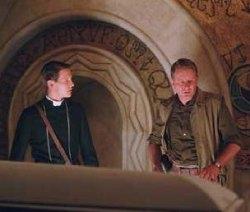 Da sinistra James D'Arcy e Stellan Skarsgaard in una scena del film.