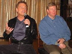 Mark Hamill (a sinistra) e Jim Ward (a destra) nella cerimonia di Los Angeles.