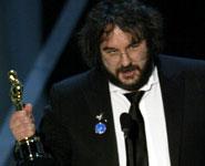 Peter Jackson con l'Oscar per la miglior regia
