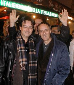 Claudio Simonetti (a sinistra) con Dario Argento