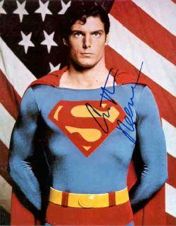 Christopher Reeve nella parte di Superman