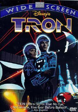 La copertina del DVD di <i>Tron</i> prima versione