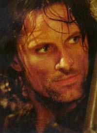 Viggo Mortensen nel ruolo di Aragorn