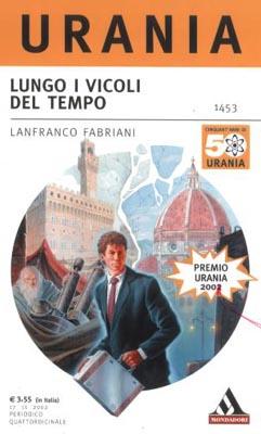 Una bozza della copertina del libro di Fabriani, con segnalata una correzione: l'edizione del premio Urania è quella del 2001, non del 2002