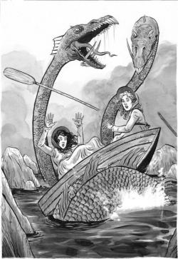 Una delle illustrazioni realizzate appositamente per il romanzo