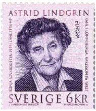 Un francobollo svedese dedicato alla scrittrice Astrid Lidgren