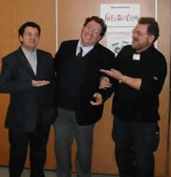 Da sinistra: Francesco Grasso, Donato Altomare, Leo Sorge