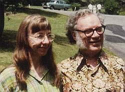 Isaac Asimov con la moglie Janet