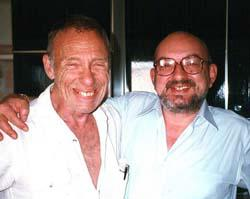 Vittorio Curtoni (a destra) con Robert Sheckley