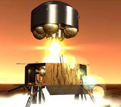 Immagine artistica del momento del distacco del modulo di riporto a Terra dei campioni di suolo marziano della Mars Sample Return Mission