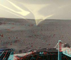Il primo panorama a colori di Marte inviato da Spirit. L'immagine ha una risoluzione e una nitidezza senza precedenti