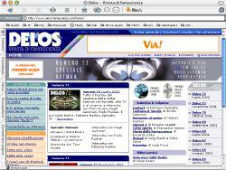 La nuova home page di Delos