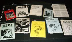 Alcune delle fanzine esposte nella mostra curata da Jarok e Curtoni