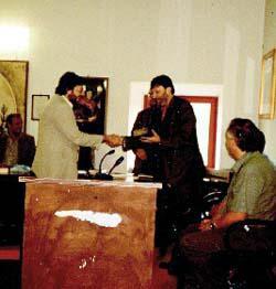 Marco Passarello riceve il primo premio
