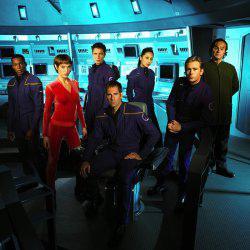 Il cast fisso della serie <i>Star Trek - Enterprise</i>